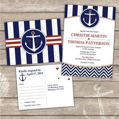Printable Nautical Wedding Invitation Bundle by DesignsinaWink, $45.00