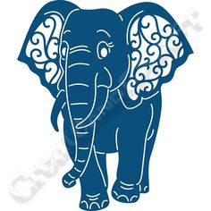 Tattered Lace Eleanor Elephant Die No Colour