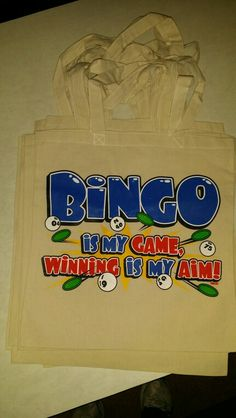 Bingo canvas tote bags $10 contact us 815-355-5521 email us your images or idea to uniquelypersonal2015@gmail.com