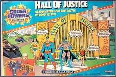 Kenner Super Powers Hall of Justice Playset 1986