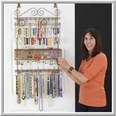 Over the door jewelry organizer is the best approach in case there is any reason to hold you from drill holes on wall or no extra space to place a floor standing jewelry armoire.      How many pairs of earrings, beautiful necklace and rings in your jewelry box currently? Did you ever think to keep them in a proper way so at one glance you know what you have and which one you want to pick to match your today's dress?      The over the door jewelry organizer as the image shown definitely is…
