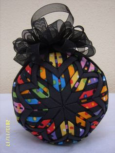 Kaleidoscope Quilted Ornament by JCCrafts on Etsy, $18.00