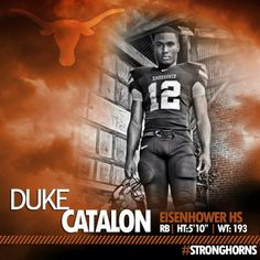 Texas Longhorn Football - Signing Day Player Card