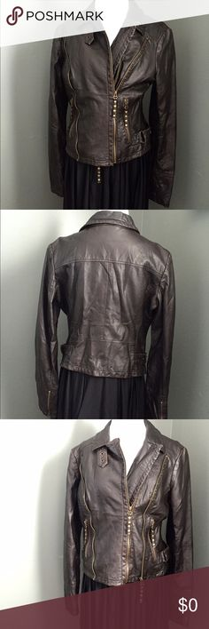 3 days left, More pics of faux leather jacket Extra pics of chocolate faux leather jacket listing. Can be zipped on first or second zipper, a little big on this mannequin but you can see the shape better here than when it lays flat. Victoria's Secret Jackets & Coats