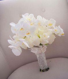 White Orchid bouquet  #weddingreception #wedding…