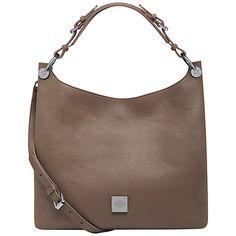 Mulberry Freya Small Leather Hobo Bag, Taupe