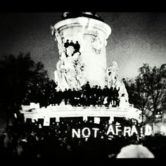 #JeSuisCharlie #notAfraid #deuil