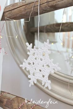 Häkeln, Schneeflocken, Anleitung,Tutorial, crocheting, crochet snowflake, christmas, Adventskalender, Blogkalender, christmas calendar, crochet, Christmas decoration, seidenfeins blog,