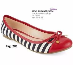 flats mutante para dama color rojo/marino/blanco i