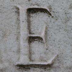 letter E, via Flickr. Handwritten Typography, Letter E, Brompton, Erika, Monograms, Cemetery, Handwriting, Arrow, England