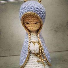 Navidad Crochet: la virgencita paso a paso.
