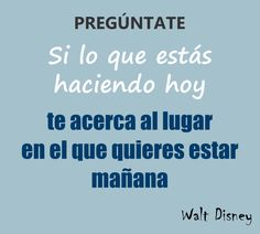 Pregúntate! Walt Disney.