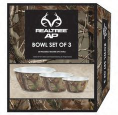 Camo Bowl Set Melamine 3 Piece Mossy oak from American Outdoor Woman Country Girl Life, Country Girls, Country Living, Camo Home Decor, Mossy Oak Camo, Hunting Camo, Camo Fashion, Camo Baby Stuff, Camping