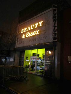 Beauty and Essex, New York. the Front is a Pawn Shop. one of the coolest, trendiest restaurants in Manhattan lies within.on my list! Great Places, Places To See, Manhattan Restaurants, Home And Away, Travel Destinations, New York, Exterior, City, World