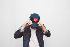 KC HEART CAP | NAVY