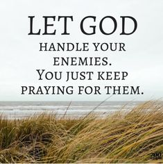 Pray for your enemies. Amen...Mildred Williams