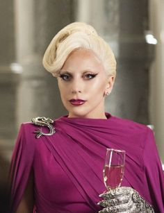 """Lady Gaga as the Countess on """"American Horror Story: Hotel"""" with costume design by Lou Eyrich. Photo: Suzanne Tenner/FX"""