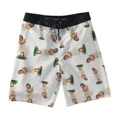 VANS Vans Mens White Hula Board Shorts Swimming Trunks. #vans #cloth #