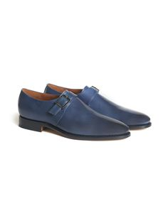"""""""Goodyear soft"""" #shoe with buckle, in hand-dyed calfskin, leather sole. #Corneliani #SS17 #accessories"""