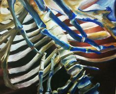 DESIGN: a skeleton like you've never seen before. Using color and placement within the frame, the artist has created a handsome composition. Skeleton Drawings, Skeleton Art, Ap Drawing, Figure Drawing, Drawing Projects, Art Projects, Project Ideas, Double Exposure Photography, Ap Studio Art