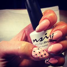 Pretty Pink Nails! Love this version of a classic French Nail!