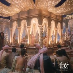 """The #wedding #mandap is all lit. Watch the wedding on our #YouTube channel…"