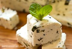 Minted Paneer - Homemade Indian Farmer's Cheese - recipe Making Cheese At Home, How To Make Cheese, Curried Couscous, Farmers Cheese, Artisan Cheese, Grilled Veggies, Homemade Cheese, Wine Cheese, Citrus Juice