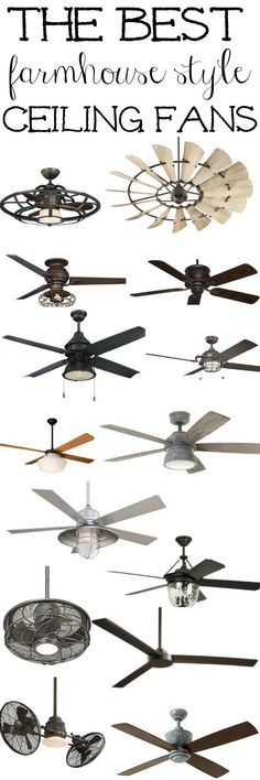 The best Farmhouse style ceiling fans - a must pin for farmhouse, cottage, or industrial style rooms!