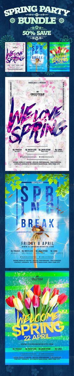 Spring Flyer Template PSD Bundle. Download here: http://graphicriver.net/item/spring-bundle/15798898?ref=ksioks
