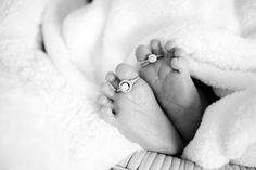 wedding rings on toes for two moms newborn session. #lesbian #photography