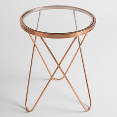 Gold Home Accents Small Bathrooms is part of Gold Bathroom Decor Etsy - Rose Gold Tomlin Accent Table with Glass Top World Market Glass Top Side Table, Glass Table, World Market Table, Gold Accent Table, Gold Table, Accent Tables, Rose Gold Side Table, Geometric Side Table, Interiors