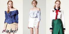 """Um dos modelos mais vistos em looks de street style mundo a foto, são as camisas com """"gola laço"""". amo!"""