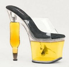 Perfect pair of heels to wear to your next AA meeting! Because clearly you must be drunk to like these!