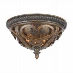 LightingShowroom.com: French Quarter Antique Brown Outdoor Flush Mount, $180.00