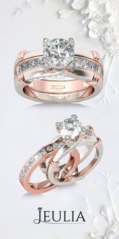 Check this out from jeulia! Knot Round Cut Sterling Silver Interchangeable Ring Set Jeulia Two Tone Interchangeable Round Cut Created White Sapphire Wedding Set. Perfect Rose Gold Two Tone Interchangeable Ring From Jeulia. Wedding Rings Rose Gold, Rose Gold Jewelry, Wedding Jewelry, Elegant Wedding Rings, Wedding Earrings, Bridal Rings, Unique Rings, Beautiful Rings, Gold Chains For Men