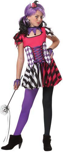 medieval jester tween costume