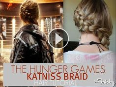 Ok . . . here it is! Easy! The Katniss Braid . . . I needed to find this immediately after seeing the movie.  That braid is too fierce.  I'm currently sporting one!