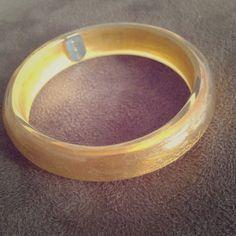 24k gold encased in lucite bangle 24k gold encased in lucite bangle. Exclusive design for Casa de Oro Honduras. Jewelry Bracelets