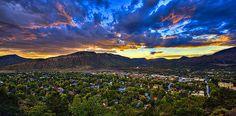 A majestic sunset in Durango, Colorado.