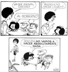 Quino Mafalda ideas de gobierno