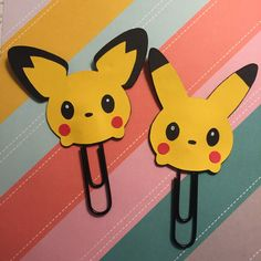 Plannerclips/Bookmark Set of both Pikachu and by CreativeCraftCo