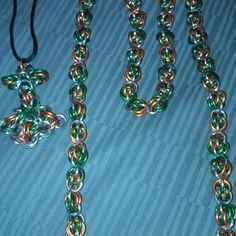 Irish pride chain maille set