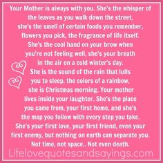 Life is a Highway: Mothers day.. without her.