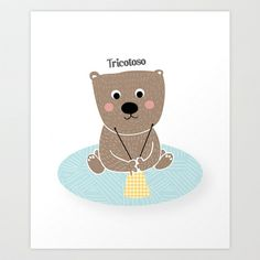 Tricotoso Art Print by Isabel Aniel - $18.00