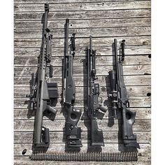 Barrett M82A1, ERMA SR100, HK21, Accuracy International 95 AWP