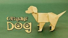 Origami Dog Tutorial: Labrador (Steven Casey) - Tap the pin for the most adorable pawtastic fur baby apparel! You'll love the dog clothes and cat clothes! <3