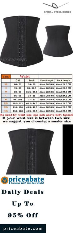 Waist trainer corset | Corset waist trainer | steel boned corsets | 4 Spiral Steel Boned Waist Training Cincher Underbust Corset Waspie Plus Size  - Buy This Item Now For Only: $12.99