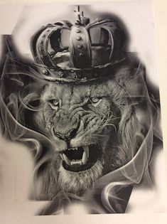 Lion tattoos hold different meanings. Lions are known to be proud and courageous creatures. So if you feel that you carry those same qualities in you, a lion tattoo would be an excellent match Mens Lion Tattoo, Tiger Tattoo, Cat Tattoo, Lion Chest Tattoo, Tattoo Designs, Lion Tattoo Design, Life Tattoos, Body Art Tattoos, Hand Tattoos
