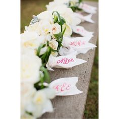 { monogram } my favorite bridesmaid bouquets ever, this bride had monogram ribbons made for all of her girls. such a sweet personal touch! photo by @sealightstudios flowers by @martinrobertsdesign #monogram #bride #bridesmaid #sweet #darling #bouquet #flowers #wedding #weddinginspiration #weddingflowers #kauaiwedding #kauaiweddingplanner #hawaiiwedding #hawaiiweddingplanner #destinationwedding