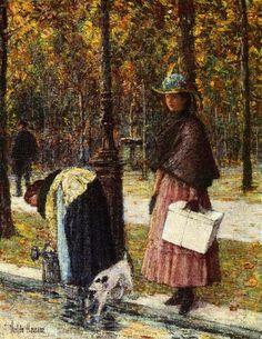 Frederick Childe Hassam ( 1859-1935 ) 'Evening, Champs Elysees (aka Pres du Louvre' 1898